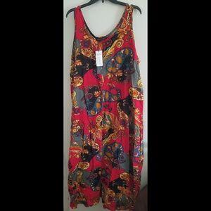 Zanzea red paisley maxi dress